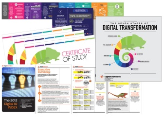 A range of materials for digital training and marketing initiatives